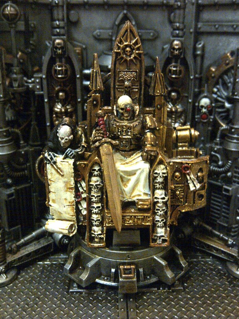[W30K] L'Empereur de l'Humanité / The Emperor of Mankind Emperor_of_man_wip_by_waileem-d698lfx