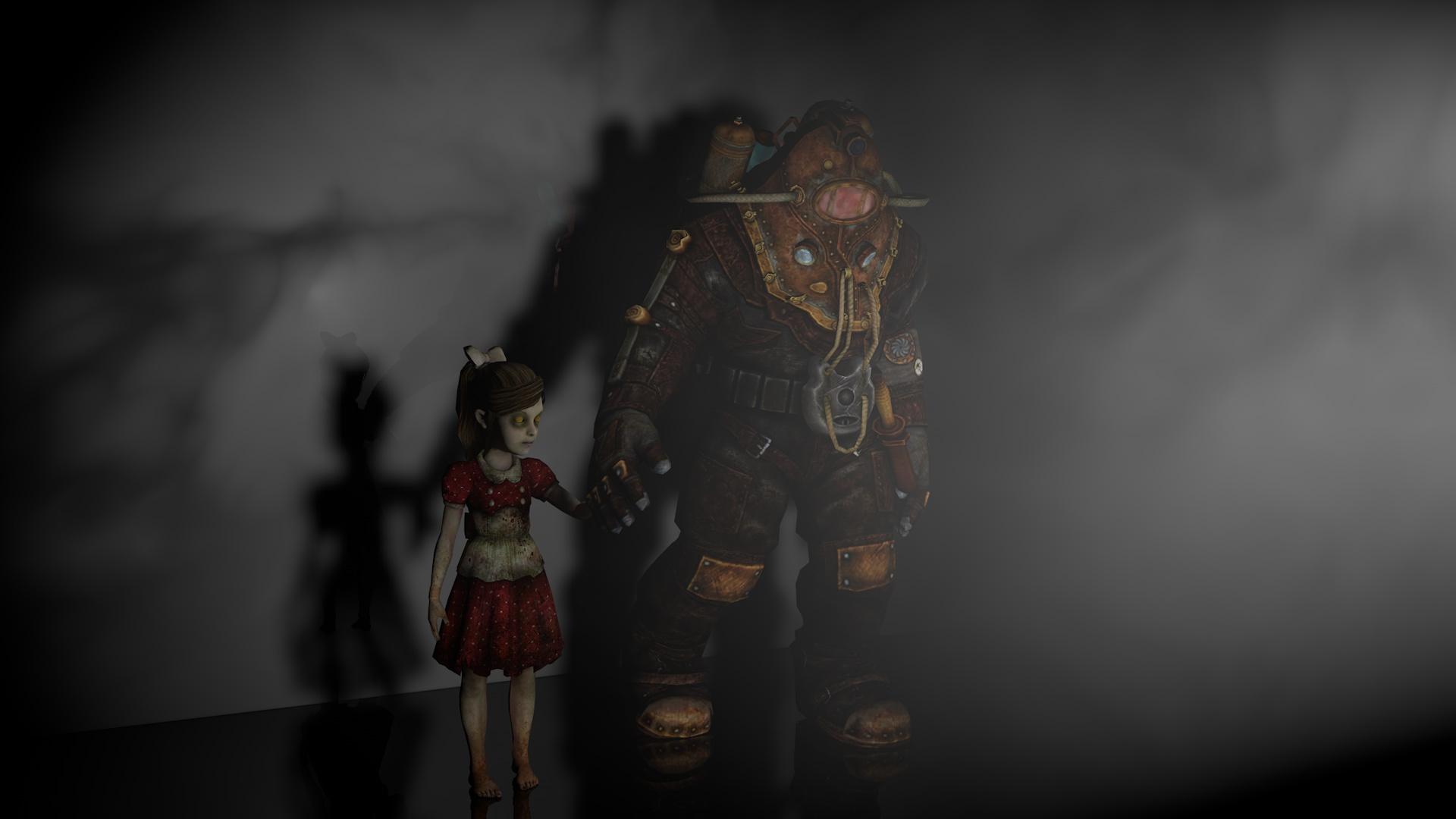 Big Daddy Little Sister Bioshock 2 By Welshboy99 On Deviantart