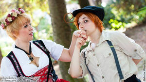 Folklor!Hetalia South Italy And Nyo!Germany by ChibiMisa94