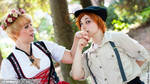Folklor!Hetalia South Italy And Nyo!Germany