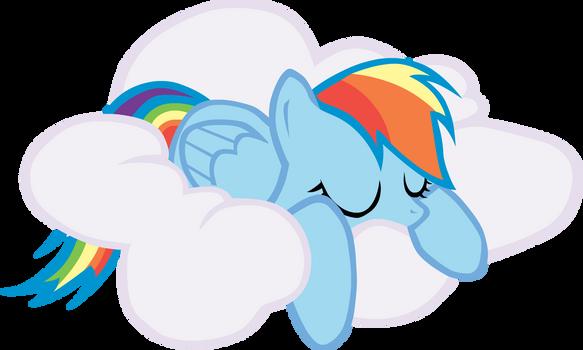 Sleeping Rainbow Dash by Versilaryan