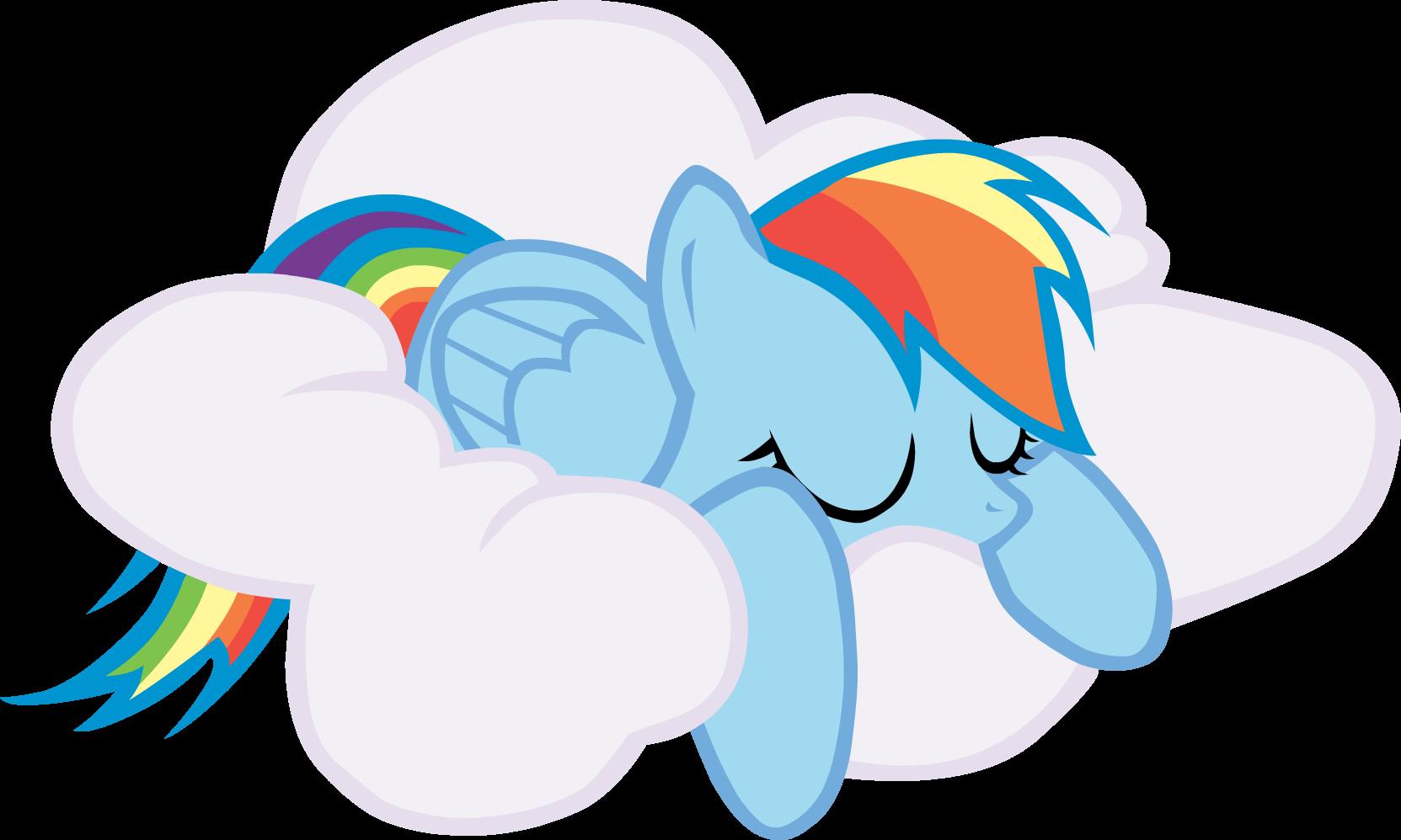 Sleeping Rainbow Dash