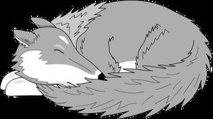 Sleeping Wolf by Versilaryan