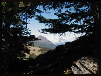 Mountain and Trees by Versilaryan