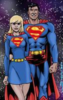 Superman and Supergirl by Joe-Singleton