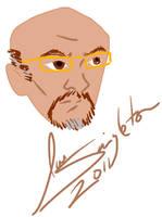 iPad self portrait by Joe-Singleton