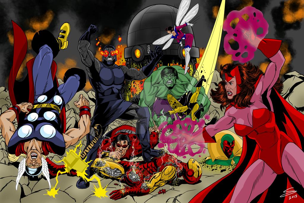 Avengers-v-Darkseid by Joe-Singleton