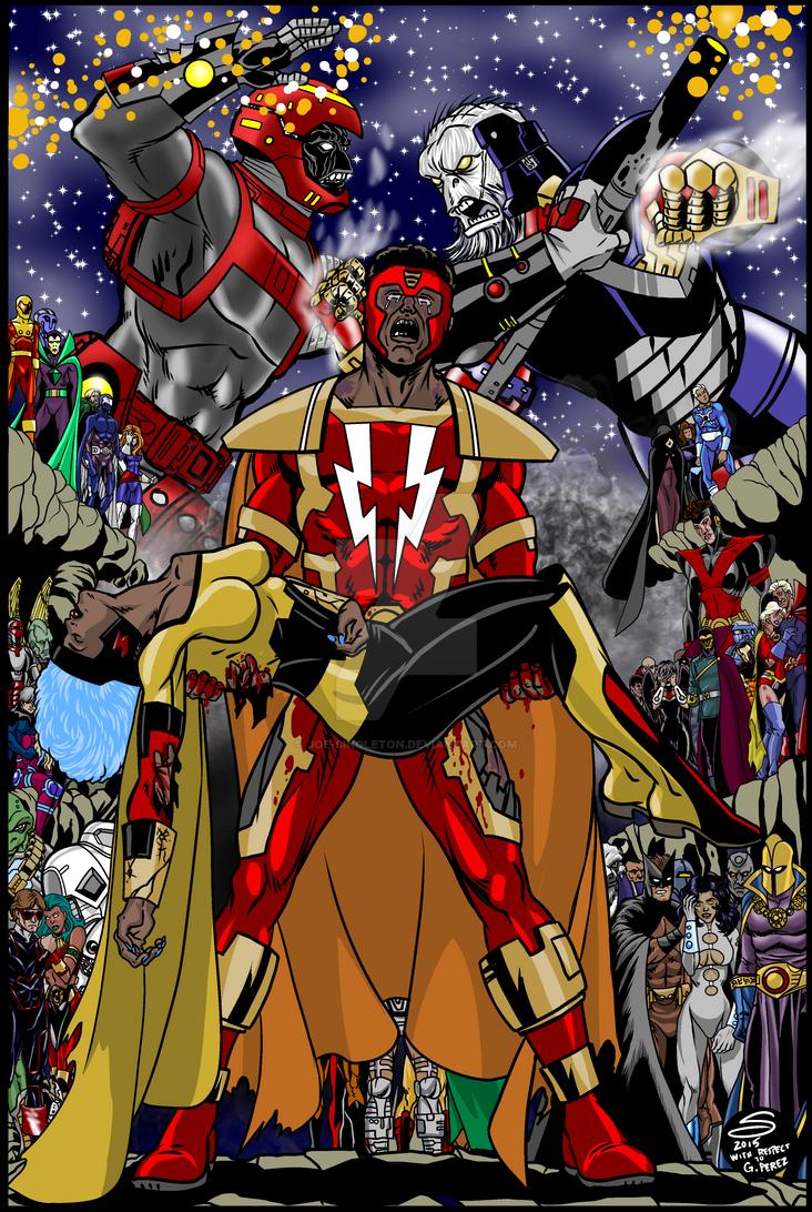 Cosmic Crisis cover by Joe-Singleton