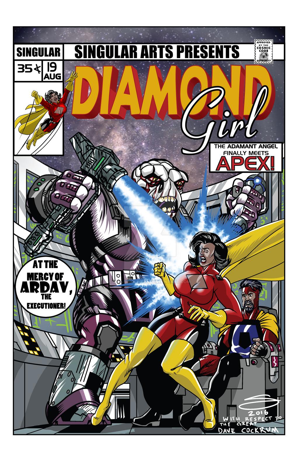 Diamond Girl 19 mock cover by Joe-Singleton