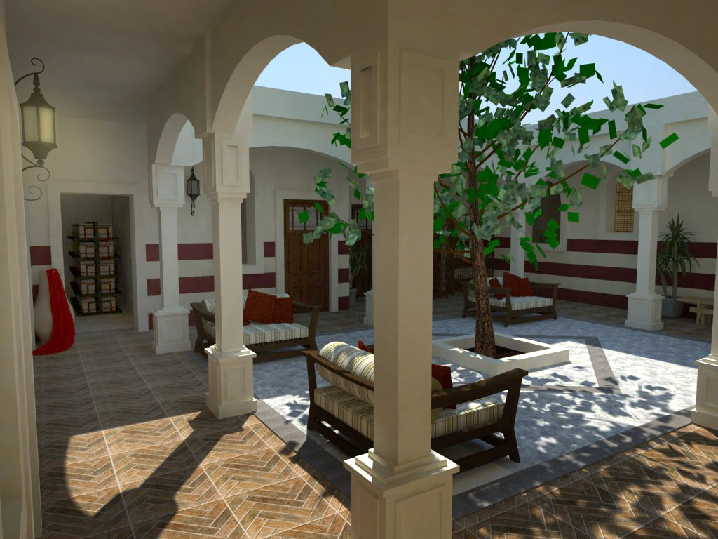traditional libyan courtyard housenadabenghazi on deviantart