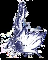 Mermaid in pen by QueenRebecca