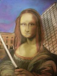 undone modern Mona lisa by Shelkadom