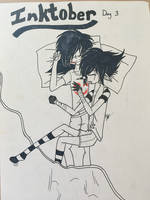 Inktober 3: Laughing Jack x Jeff the Killer by RexanaBlitz