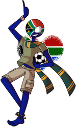 CountryHumans ~ South Africa | With Speedpaint