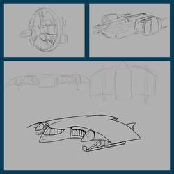 Dark Matter: Sketches: Cypselurus Collage