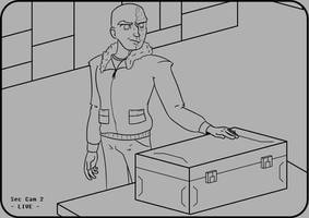 Dark Matter: Lineart - Paul's Delivery Troubles