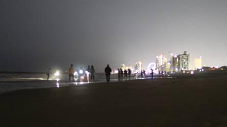 Nighttime Beachgoers