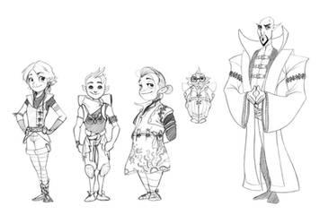 Character designs by StijnVanDoorselaere
