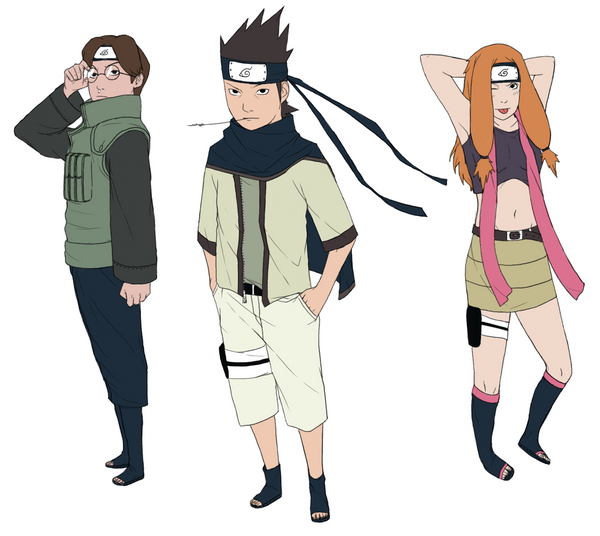Woah Konohamaru Moegi And Udan All Grown Up Wow: Team Ebisu 2 Years Later :3 By Lilfurman On DeviantArt