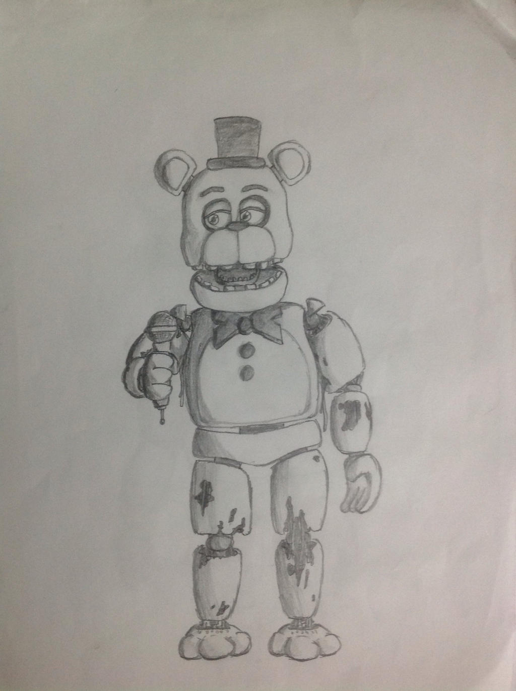 Fnaf Withered Freddy Drawing - Www imagez co