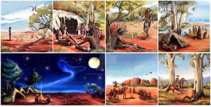 Dreamtime Man  - children book illustration