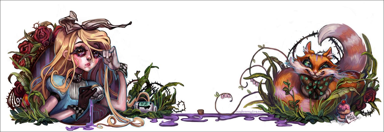 Alice in Wonderland by naylemonstre