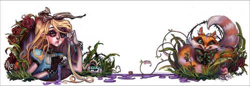 Alice in Wonderland by valeriebastille