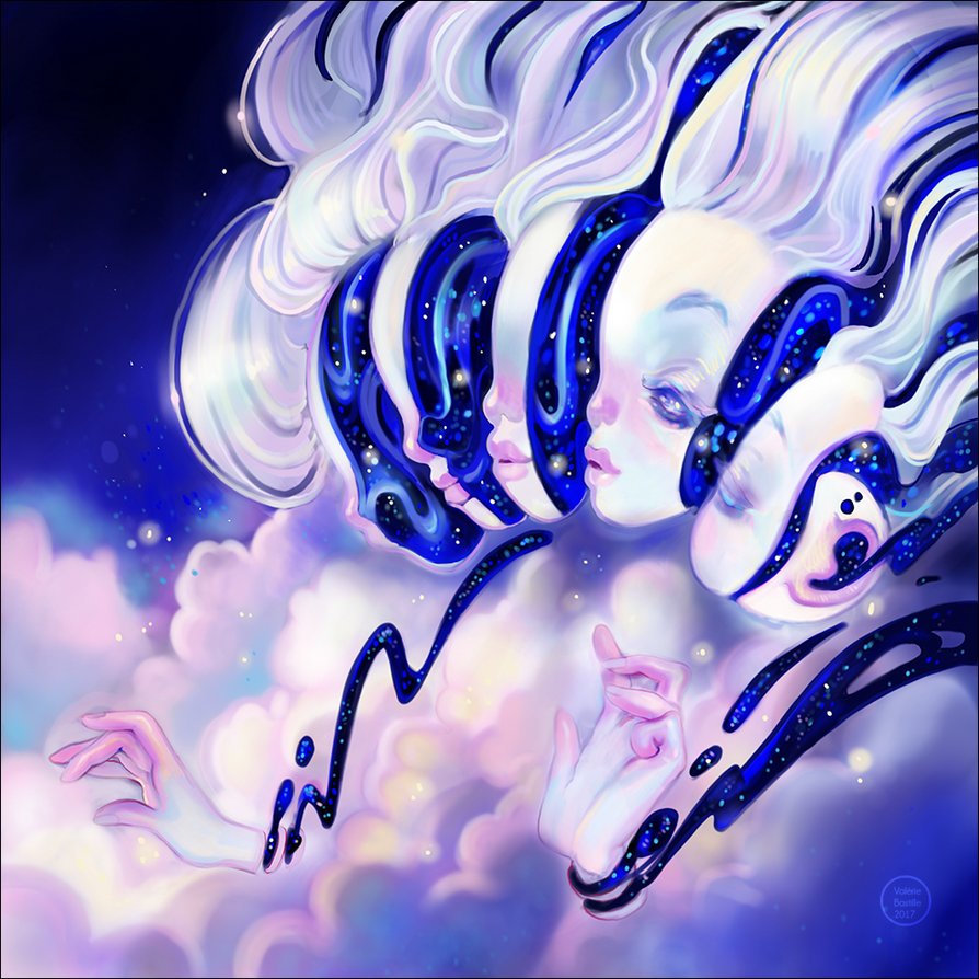 Moon Faces by valeriebastille