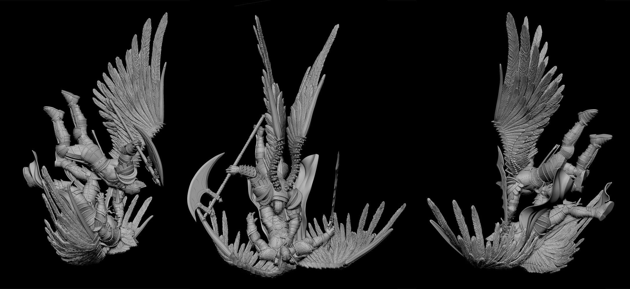 Falling zbrush model by alterton on DeviantArt