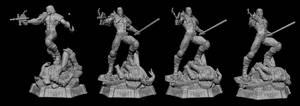 Dredd 1/4 statue zbrush model v1 by alterton