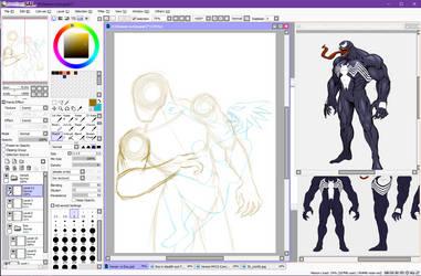 Eos(Raine) vs Venom(Mac Gargan) [WIP] by Panther-D212