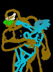 Eos(Raine) vs Venom(Mac Gargan) Sketching complete by Panther-D212
