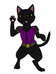 MHW: Felyne OC - Sable by Panther-D212