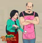 Pumpkin Days - Fanart Contest - Fasha and Greg by ktou
