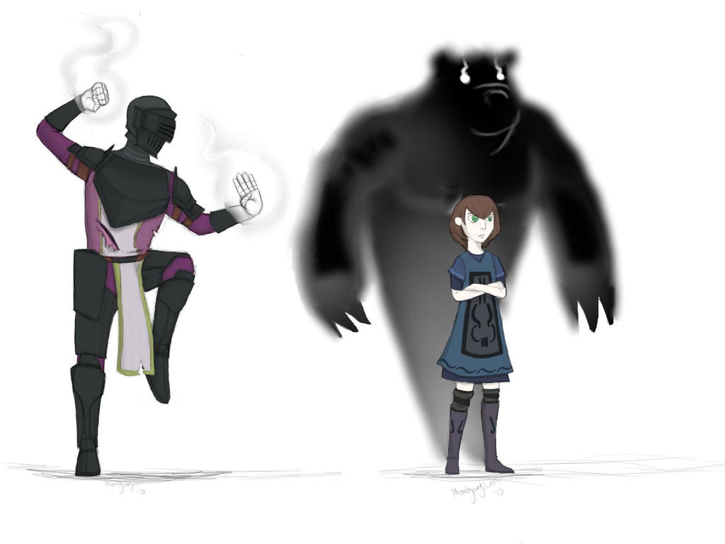 Legan and Annabelle by ManlyMagician
