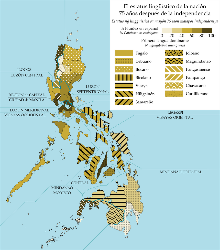 Linguistic Map of an Alternate Philippines by JJDXB on DeviantArt