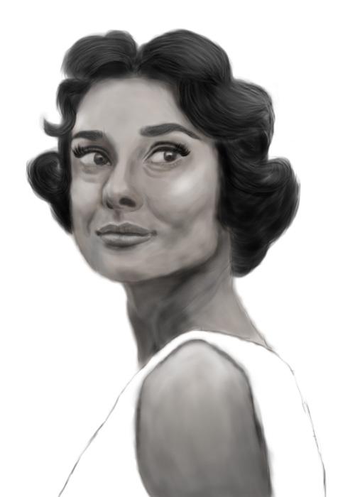 Audrey Hepburn by ArtFiqah