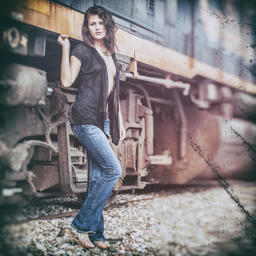 Brenna by the Train by GeheimnisBild