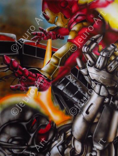 Iron Man Vs Ultron by JEURO85