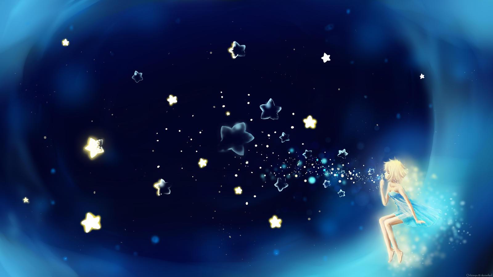 Анимационные открытки спокойной ночи сладких снов на фоне звездного неба, днем библиотек поздравление