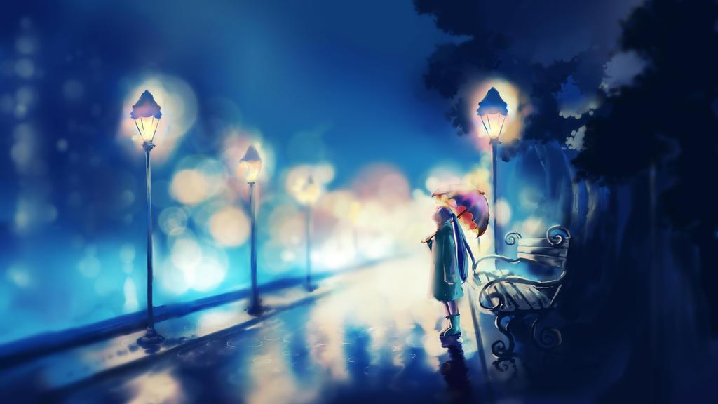 Rain City Wallpaper Anime Scenery Wallpaper Rain T