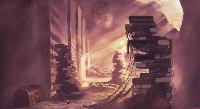 Abandoned Library Concept