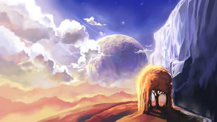 Fantasy Landscape by Chibionpu