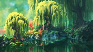 Willows by Chibionpu