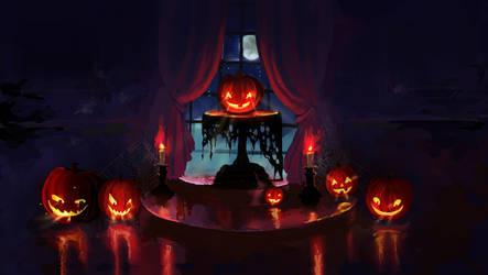 Halloween wallpaper by Chibionpu