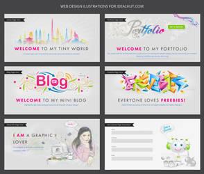 Web Design Illustrations - IdealHut.com by Design-Maker