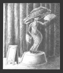 Cirque Du Veggie: Fandancing Mushroom Girl by chillinchikjw
