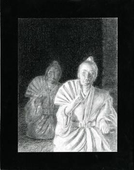 Light vs Dark porcelain samurai