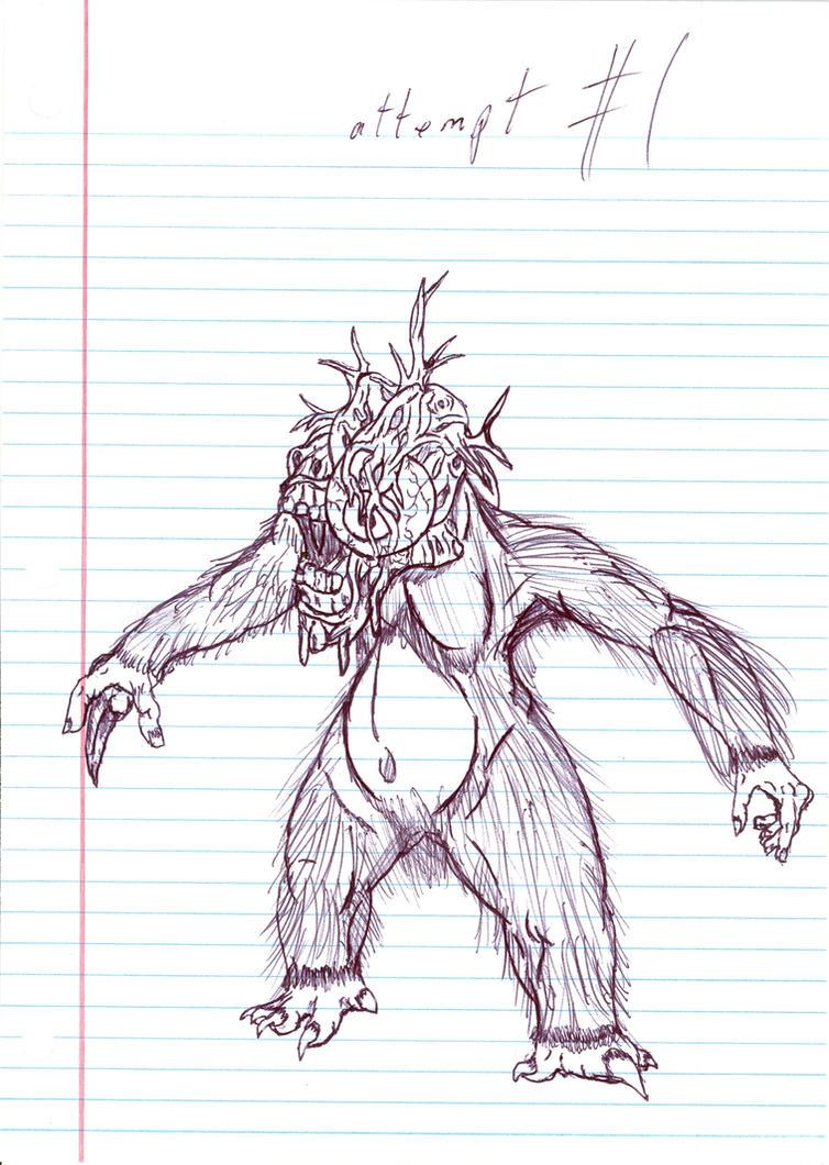 Mutant Gorilla by LittleGodzilla2010