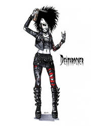 Goth stereotype #2: Deathrocker by HellgaProtiv